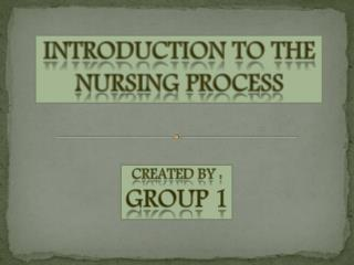 Introduction to the Nursing process