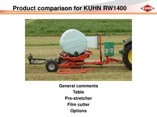 Product comparison for KUHN RW1400