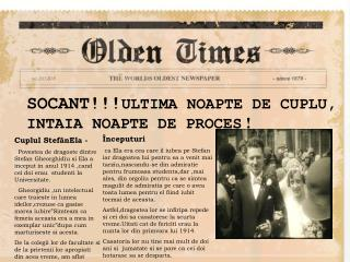 SOCANT!!! ULTIMA NOAPTE DE CUPLU, INTAIA NOAPTE DE PROCES  !