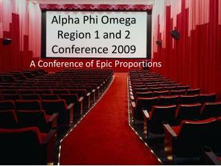 Alpha Phi Omega Region 1 and 2  Conference 2009