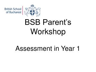 BSB Parent's Workshop
