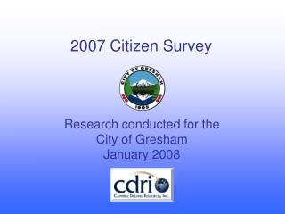 2007 Citizen Survey