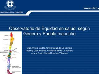 Observatorio de Equidad en salud, según Género y Pueblo mapuche