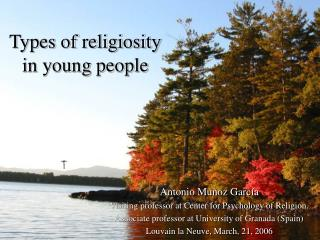 Types of religiosity  in young people