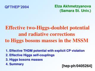 2. Effective Higgs self-couplings