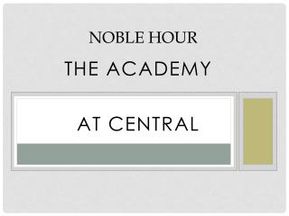 Noble Hour