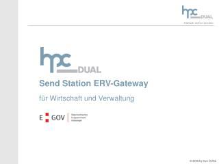 Send Station ERV-Gateway für Wirtschaft und Verwaltung