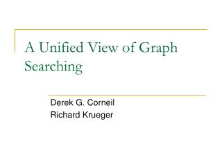 A Unified View of Graph Searching