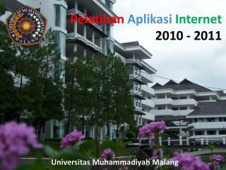 Pelatihan  Aplikasi  Internet 2010  - 2011