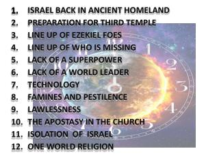 ISRAEL BACK IN ANCIENT HOMELAND   PREPARATION FOR THIRD TEMPLE   LINE UP OF EZEKIEL FOES