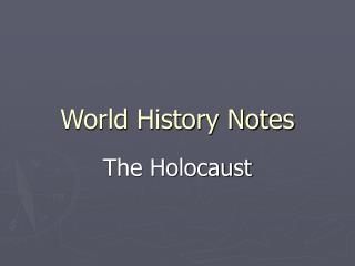 World History Notes