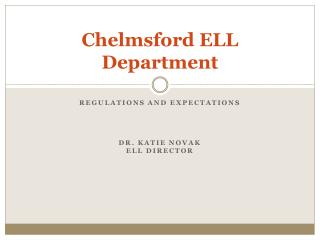 Chelmsford ELL Department