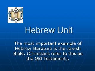 Hebrew Unit