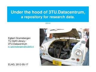 Under the hood of 3TU.Datacentrum, a repository for research data.