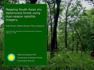 Mapping South Asian dry               dipterocarp forest using  dual-season satellite imagery.
