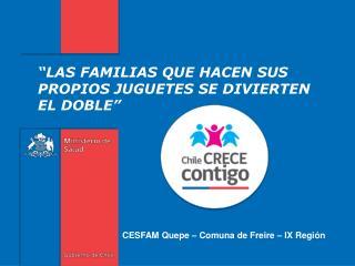 CESFAM Quepe – Comuna de Freire – IX Región