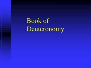Book of Deuteronomy