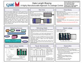 Gate-Length Biasing A Highly Manufacturable Approach To Leakage Control