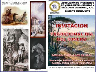 ASOCIACIÓN DE INGENIEROS DE MINAS, METALURGISTAS Y GEÓLOGOS DE MÉXICO, A. C. DISTRITO GUANAJUATO