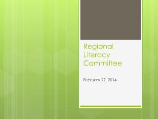 Regional Literacy Committee