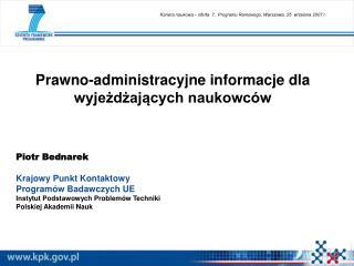 Prawno-administracyjne informacje dla wyjeżdżających naukowców