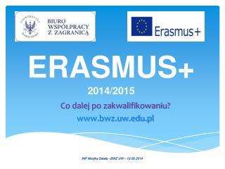 ERASMUS+  2014/2015