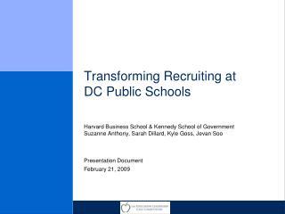 Transforming Recruiting at DC Public Schools