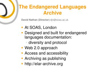 The Endangered Languages Archive