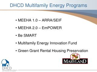 DHCD Multifamily Energy Programs