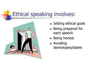 Ethical speaking involves: