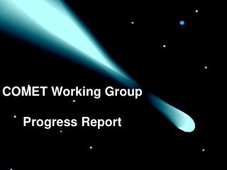 COMET Working Group Progress Report