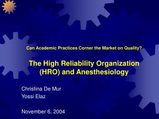 Christina De Mur Yossi Elaz November 6, 2004