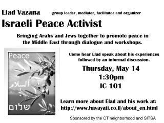 EladVazana Israeli Peace Activist