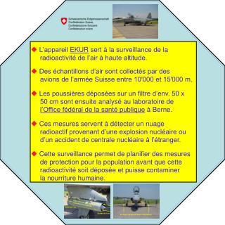   L'appareil  EKUR  sert à la surveillance de la      radioactivité de l'air à haute altitude.