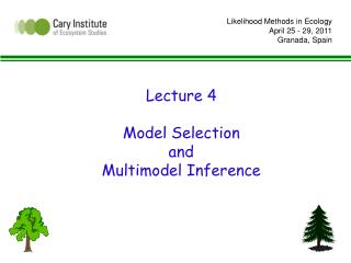Lecture 4  Model Selection  and Multimodel Inference