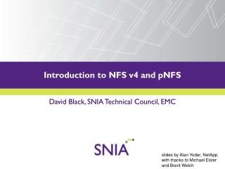 Introduction to NFS v4 and pNFS