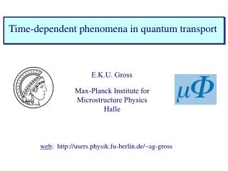 Time-dependent phenomena in quantum transport