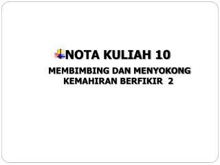 NOTA KULIAH 10