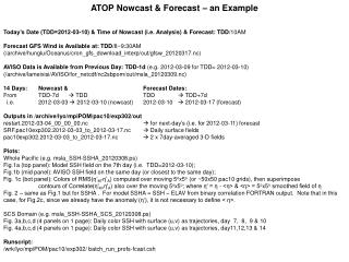 ATOP Nowcast & Forecast – an Example