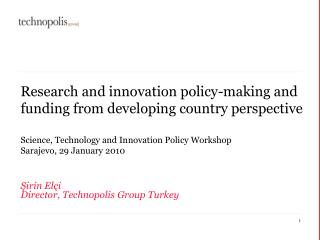 Research and innovation policy-making and funding from developing country perspective