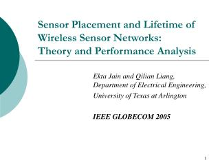 Sensor Placement and Lifetime of Wireless Sensor Networks: Theory and Performance Analysis