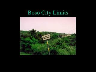 Boso City Limits