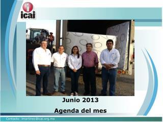 Junio 2013 Agenda del mes