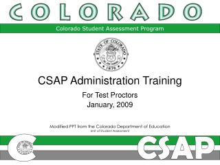 Modified PPT from the Colorado Department of Education Unit of Student Assessment