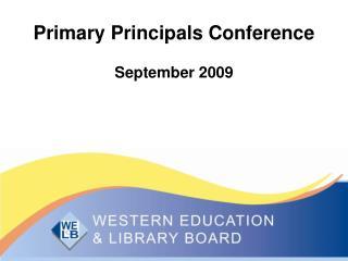 Primary Principals Conference