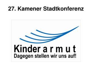 27. Kamener Stadtkonferenz