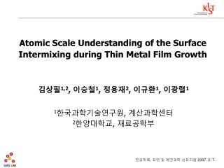 Atomic Scale Understanding of the Surface Intermixing during Thin Metal Film Growth