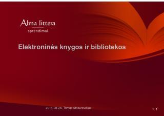 Elektronin ?s knygos ir bibliotekos