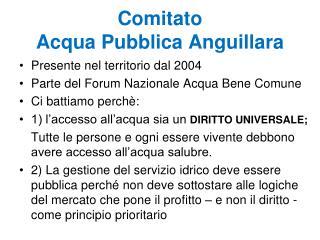 Comitato  Acqua Pubblica Anguillara