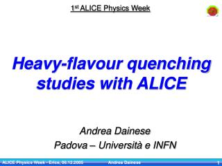 Heavy-flavour quenching studies with ALICE